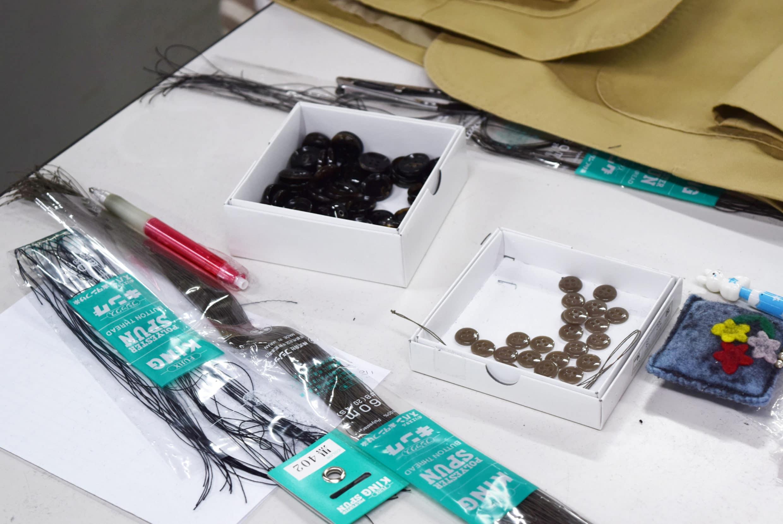 縫製釦子用的工具